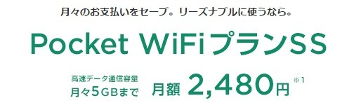 PocketWiFiプランSS